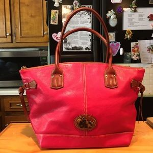 D&B Duck Pink Leather Tassel Tote Shopper